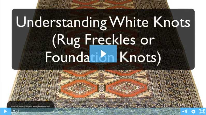 Understanding White Knots in Your Rugs