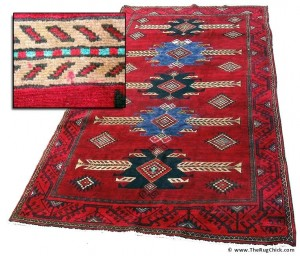 New Hamadan Rug covered in ink