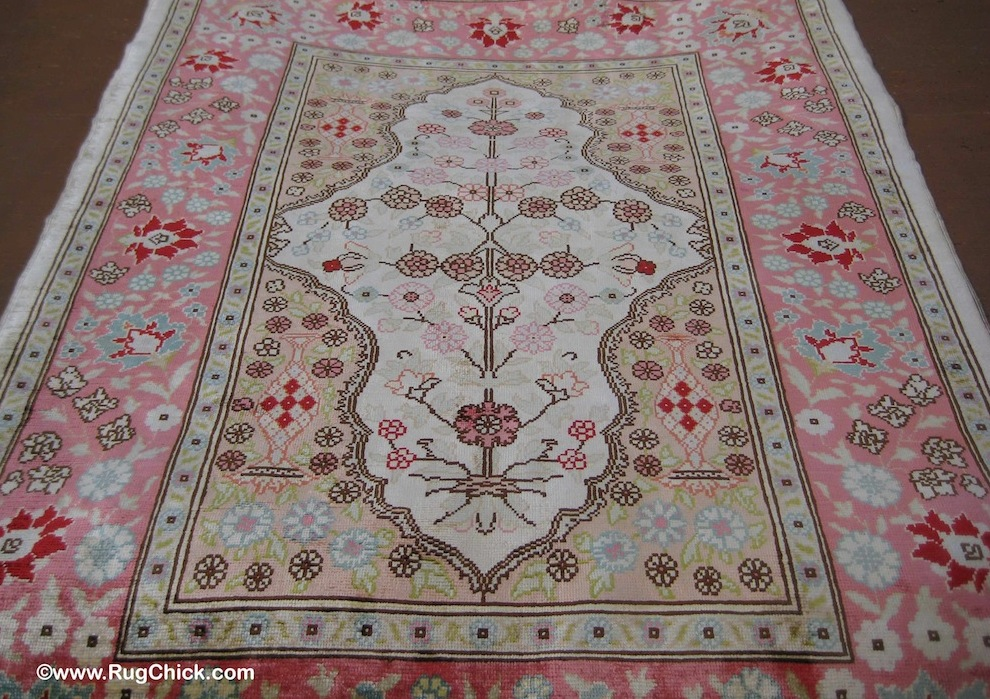 Turkish Hereke silk after the wash services to save it.