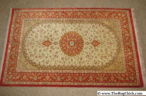 Silk Qum rug