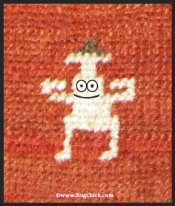 Strong man on rug
