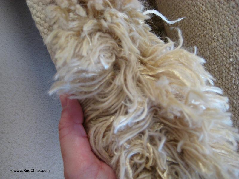 Shag wool rug