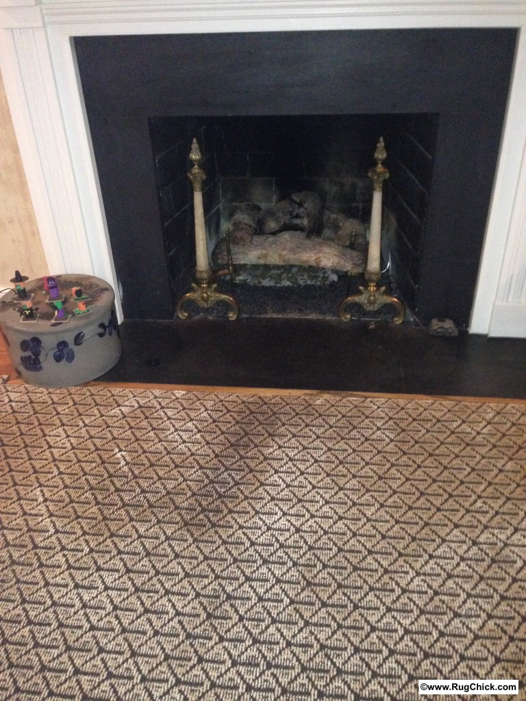 Decorator recommended viscose installed carpeting in the family room.