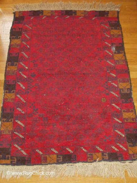 Not symmetrical rug with wavy edges