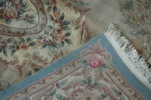 Back of sun faded rug