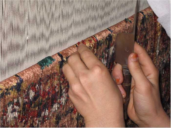 Silk rug loom