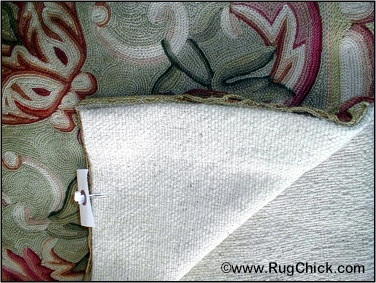 chainstitch needlepoint woven rug