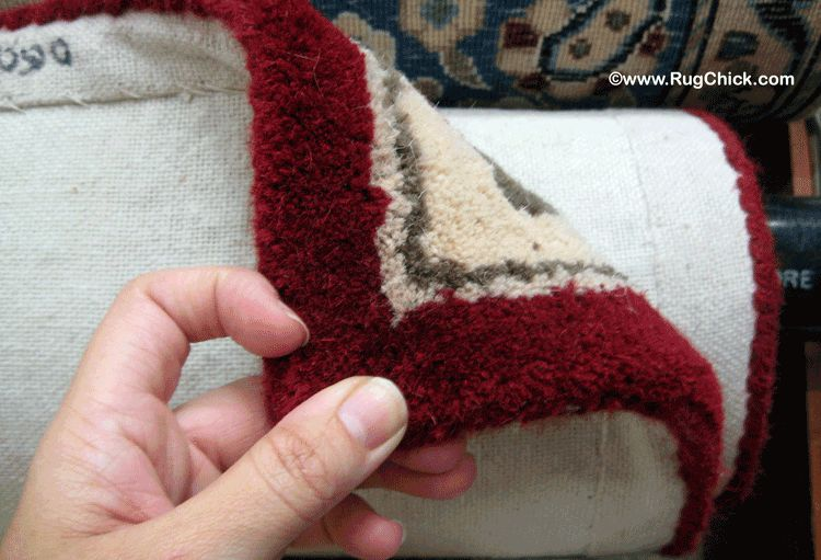 Tufted rugs have canvas material on the back.