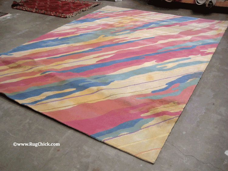 Tufted rug – flood contaminated.
