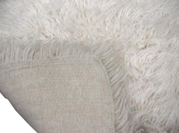 """Greek Flokati wool rug. One of the first """"shag"""" rugs."""