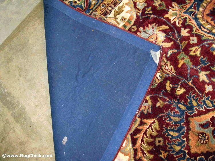 Tufted rug bad odor.