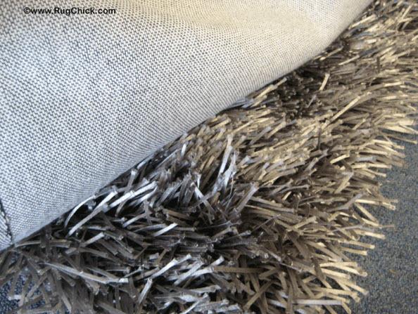 Synthetic shag rug.