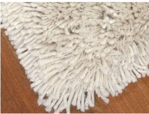 Acrlic white shag rug