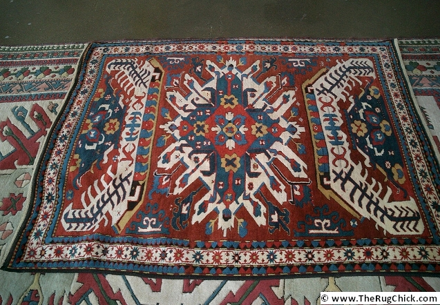 Great old Kazak (woven in Caucasus Mountain region)