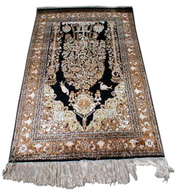 Real silk prayer rug.